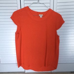 J. Crew Cap Sleeve Blouse Size Small